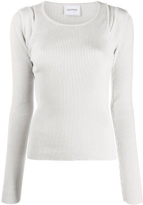 Lourdes Ribbed Fitted Top