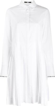 Karl Lagerfeld Paris Logo Sleeve Dress
