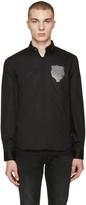 Versus Black Lion Patch Shirt