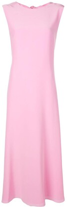 Rochas Tie-Back Maxi Dress