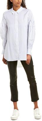 BCBGMAXAZRIA Pleated Sleeve Blouse