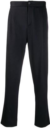 Harris Wharf London Straight Leg Pinstripe Print Trousers