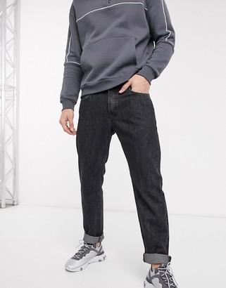 Jack and Jones Intelligence straight fit jeans in vintage dark gray