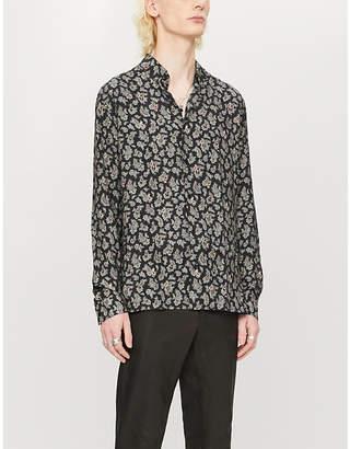 The Kooples Paisley-print woven crepe shirt