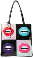 Betsey Johnson Rebel Rebel Sequin Lips Tote