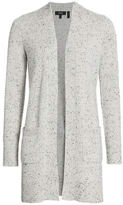 Theory Open-Front Cashmere Cardigan Sweater