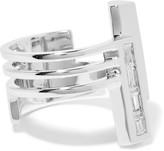 Eddie Borgo Division Rhodium-plated Cubic Zirconia Ring - Silver