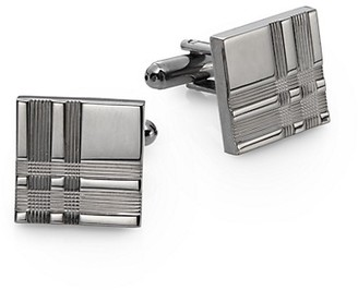 Saks Fifth Avenue Plaid Square Cuff Links