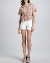 Elizabeth and James Brady Belted High-Waist Shorts