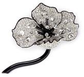 Kenneth Jay Lane Glass crystal pavé floral brooch