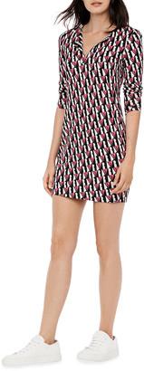 Diane von Furstenberg Reina Silk-Jersey Mini Dress