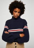MANGO Striped contrast sweater
