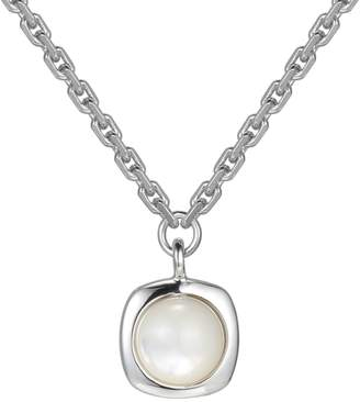 Elle Sterling Silver Scintillations Mother of Pearl Necklace