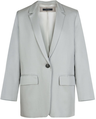 Flow Oversized Blazer In Silver