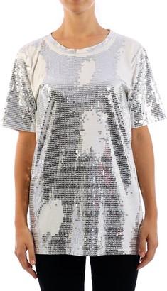 Balmain Sequinned Crewneck T-Shirt