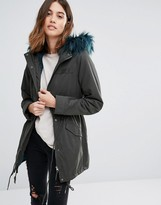 Only Soft Touch Parka Coat with Fleece Lining