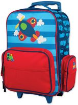 Stephen Joseph Airplane Rolling Luggage in Blue