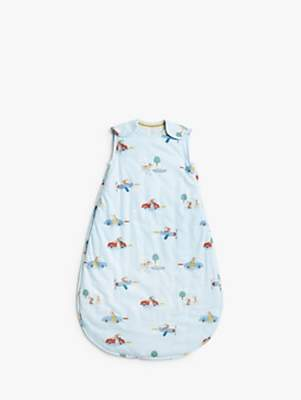 John Lewis & Partners Transport Print Baby Sleep Bag, 2.5 Tog, Classic Boy