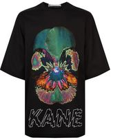 Christopher Kane Oversized Psychedelic Flower Logo T-Shirt