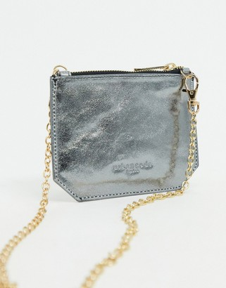 Urban Code Urbancode small leather cross body purse bag in silver