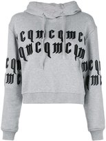 McQ by Alexander McQueen embossed text hoodie