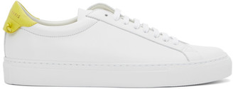 Givenchy White and Yellow Urban Street Leather Sneakers