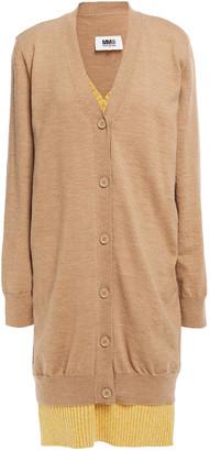 MM6 MAISON MARGIELA Layered Melange Wool-blend Mini Dress