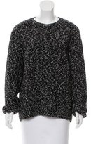 Sandro Patterned Crew Neck Sweater