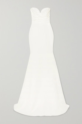 Alex Perry Laura Strapless Crepe Gown - White