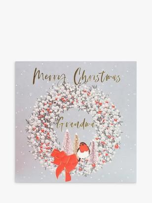 Belly Button Designs Wreath Grandma Christmas Card