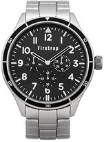 Firetrap men's quartz Watch with black Dial analogue Display and silver other Bracelet FT2015BM