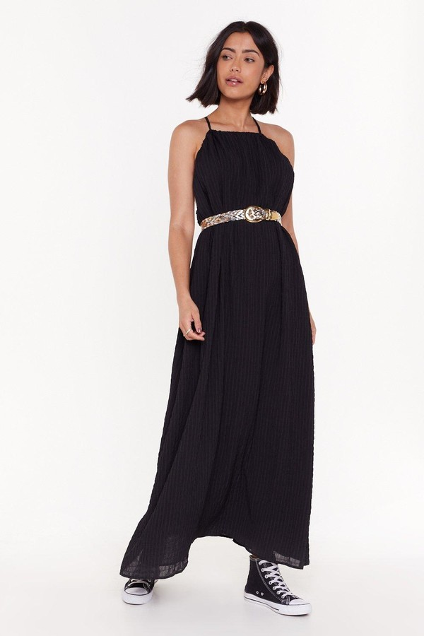 Nasty Gal Womens Nothing Holdin' Me Back Strappy Maxi Dress - Black