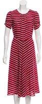 Altuzarra 2016 Capucine Striped Silk Dress