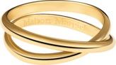 Maison Margiela Anamorphose Twisted Half Round Ring