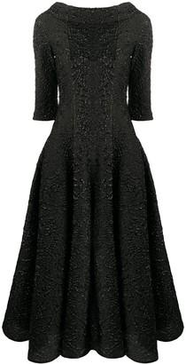 Talbot Runhof Tomini cloque A-line midi dress