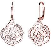 Elli Women's Earrings Flower 925 Silver Cubic Zirconia Rose gold 0305562815 Brilliant Cut Diamonds