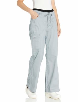 Cherokee Women's Ww Core Stretch Jr. Fit Low-Rise Drawstring Cargo Pant