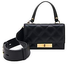 Alexander McQueen Women's Small Skull Lock Quilted Leather Top Handle Bag