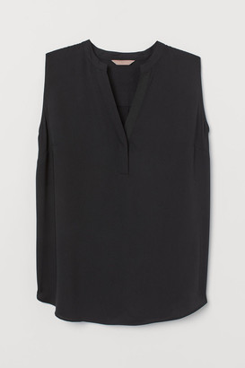 H&M H&M+ V-neck Blouse - Black