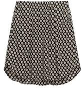 Bobeau Printed Black Tile Skirt.