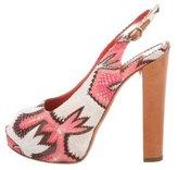 Missoni Floral Slingback Sandals