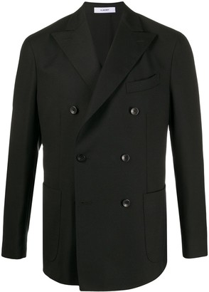 Boglioli Double Breasted Long Sleeve Blazer