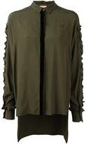 No.21 ruffle sleeve shirt