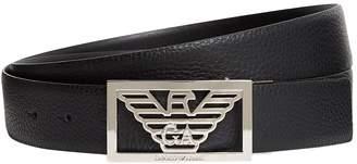 Giorgio Armani Leather Eagle Belt