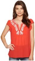 Kensie Drapey Chiffon Top KS5K4306 Women's Clothing