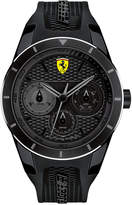 Ferrari Scuderia Men's RedRev T Black Silicone Strap Watch 44mm 830259
