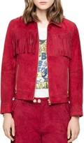 Zadig & Voltaire Kioly Deluxe Fringed Suede Jacket