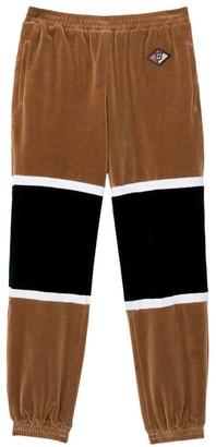 Burberry Colorblock Velvet Track Pants