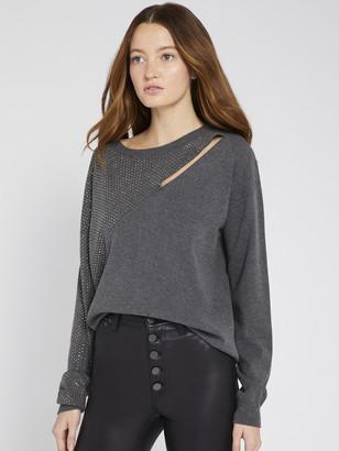 Alice + Olivia Bale Crystal Embellished Pullover