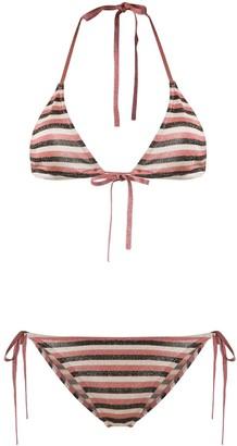 Roberto Collina Striped Bikini Set